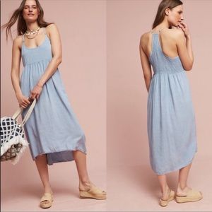 Anthropology Pale blue dress brand new with tags